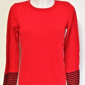 Nautica Ladies Red Crew Neck Sweater M NWT